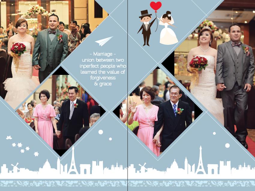 Wedding photo album design gracona for Wedding album design